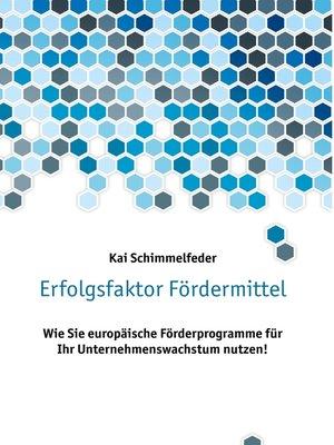 cover image of Erfolgsfaktor Fördermittel