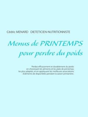 cover image of Menus de printemps pour perdre du poids