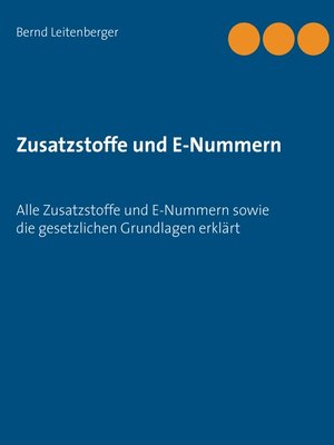 cover image of Zusatzstoffe und E-Nummern