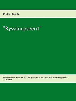 """cover image of """"Ryssänupseerit"""""""