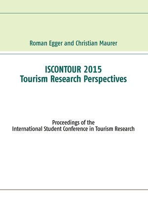 cover image of Iscontour 2015--Tourism Research Perspectives