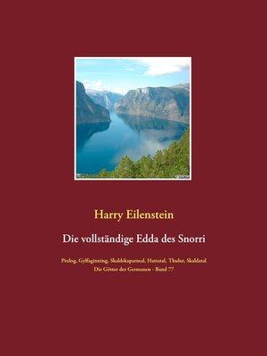 cover image of Die vollständige Edda des Snorri Sturluson