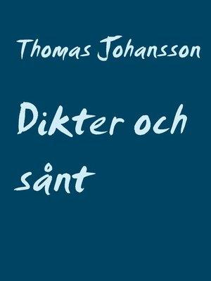 cover image of Dikter och sånt