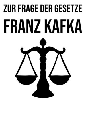 cover image of Zur Frage der Gesetze