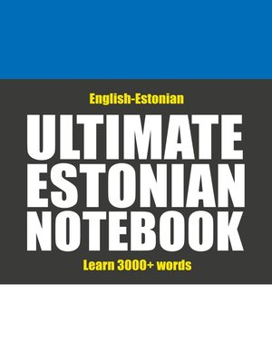 cover image of Ultimate Estonian Notebook