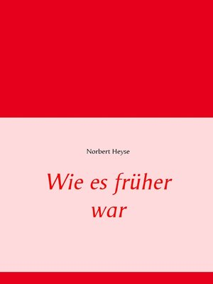 cover image of Wie es früher war