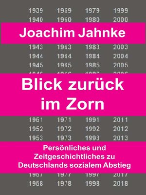 cover image of Rückblick im Zorn