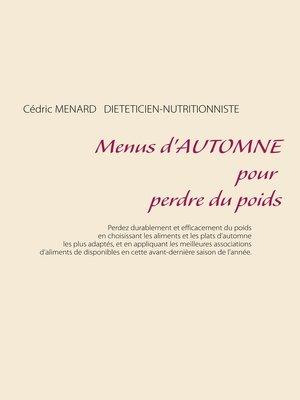 cover image of Menus d'automne pour perdre du poids