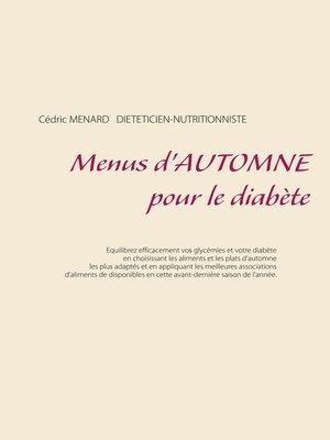 cover image of Menus d'automne pour le diabète