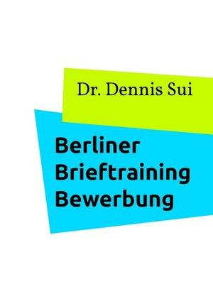 cover image of Berliner Brieftraining Bewerbung