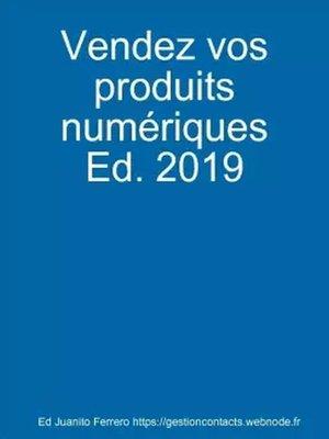 cover image of Vendez vos produits numériques