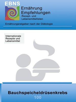 cover image of Ernährung bei Bauchspeicheldrüsenkrebs