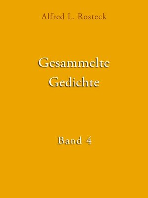 cover image of Gesammelte Gedichte Band 4