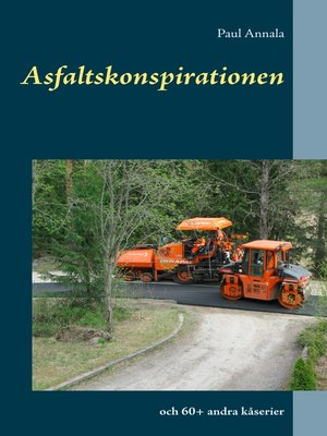 cover image of Asfaltskonspirationen