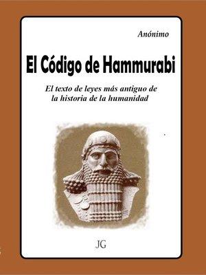 cover image of El Código de Hammurabi