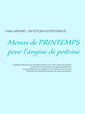 cover image of Menus de printemps pour l'angine de poitrine