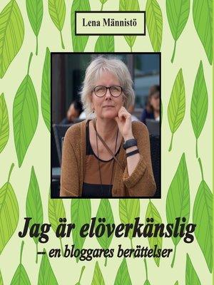 cover image of Jag är elöverkänslig