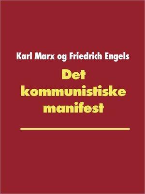cover image of Det kommunistiske manifest