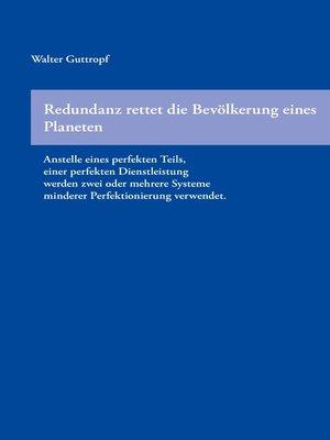 cover image of Redundanz rettet die Bevölkerung eines Planeten