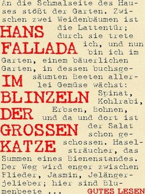 cover image of Im Blinzeln der großen Katze