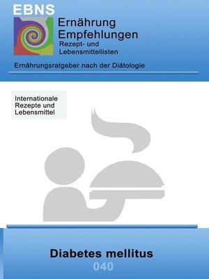 cover image of Ernährung bei Diabetes mellitus