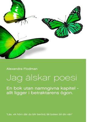 cover image of Jag älskar poesi