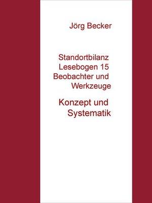 cover image of Standortbilanz Lesebogen 15 Beobachter und Werkzeuge
