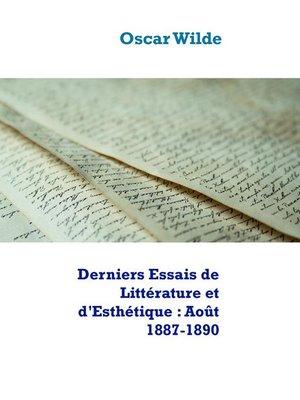 cover image of Derniers Essais de Littérature et d'Esthétique