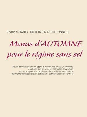 cover image of Menus d'automne pour le régime sans sel