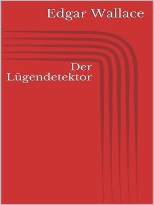 cover image of Der Lügendetektor