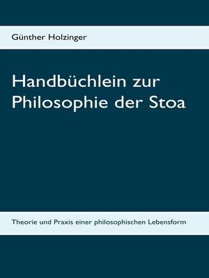 cover image of Handbüchlein zur Philosophie der Stoa