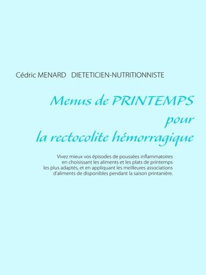 cover image of Menus de printemps pour la rectocolite hémorragique