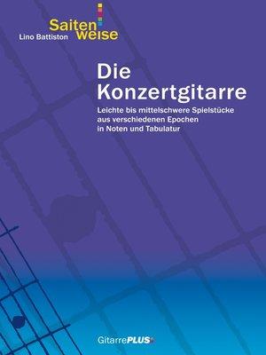 cover image of Die Konzertgitarre