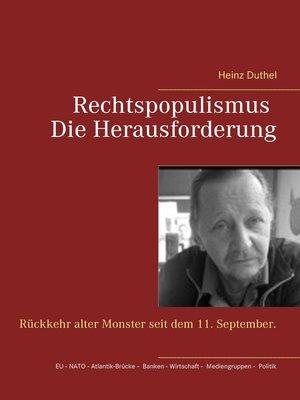 cover image of Rechtspopulismus--Die Herausforderung