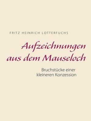 cover image of Aufzeichnungen aus dem Mauseloch
