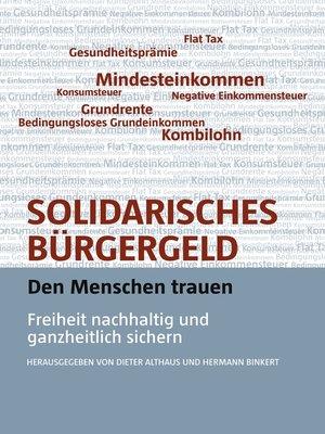 cover image of Solidarisches Bürgergeld--den Menschen trauen
