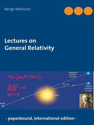 cover image of Lectures on General Relativity