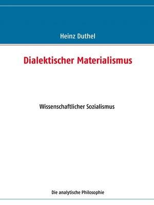cover image of Dialektischer Materialismus