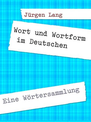 cover image of Wort und Wortform im Deutschen