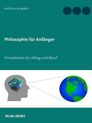 cover image of Philosophie für Anfänger