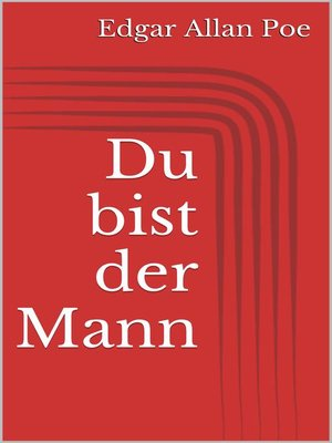 cover image of Du bist der Mann