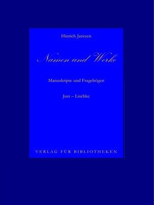 cover image of Namen und Werke 9