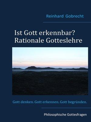 cover image of Ist Gott erkennbar?