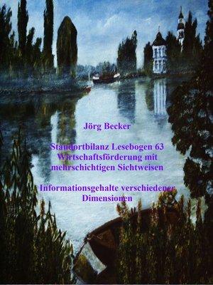 cover image of Standortbilanz Lesebogen 63 Wirtschaftsförderung mit mehrschichtigen Sichtweisen