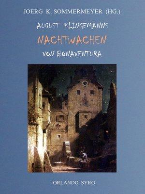 cover image of August Klingemanns Nachtwachen von Bonaventura