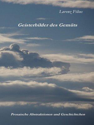 cover image of Geisterbilder des Gemüts