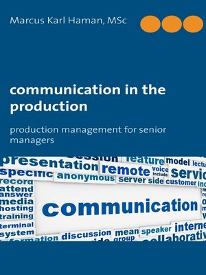 cover image of Communication in the Production