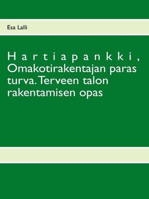 cover image of Hartiapankki,  Omakotirakentajan paras turva.