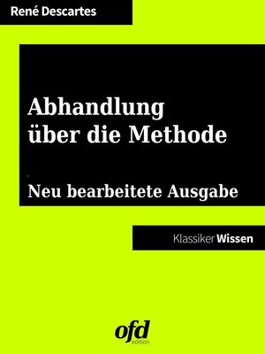 cover image of Abhandlung über die Methode