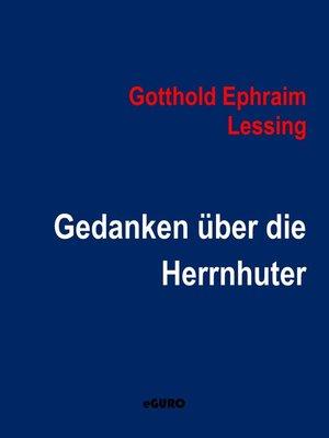 cover image of Gedanken über die Herrnhuter